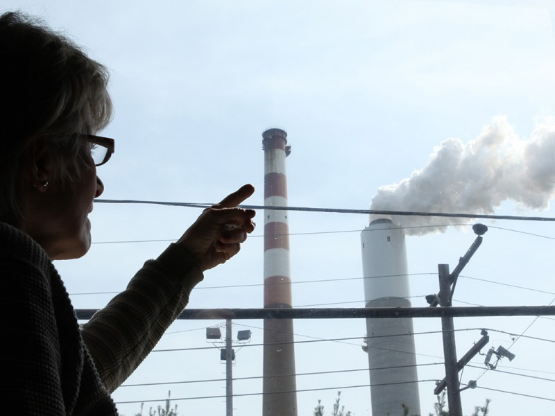 Marti Blake watched the Cheswick Generating Station from her home in Springdale, PA.