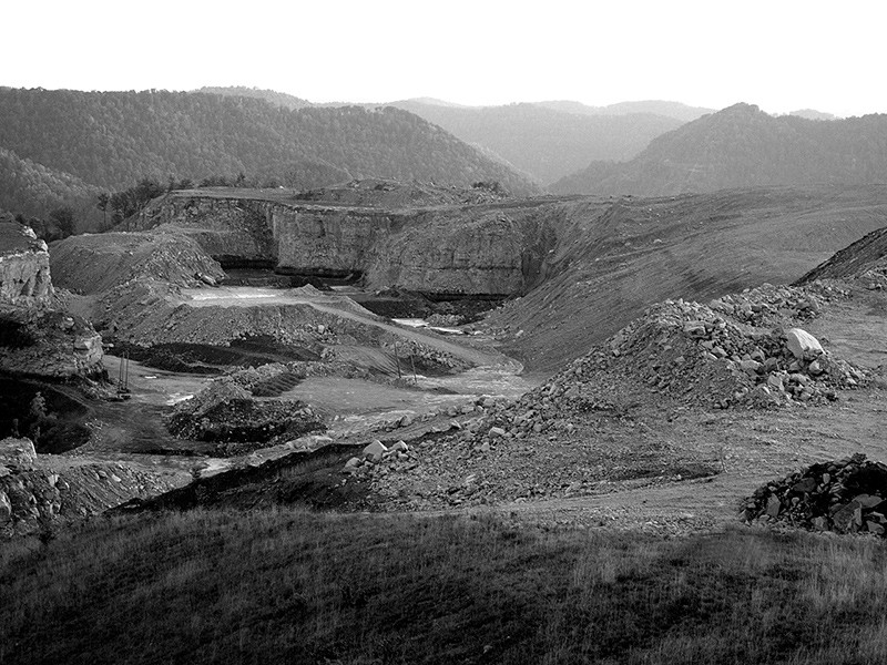 Devastation caused by mountaintop removal mining.