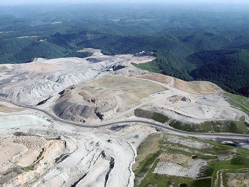 Mountaintop removal is a form of strip mining in which explosives are used to blast off the tops of mountains in order to reach the coal seams that lie underneath.