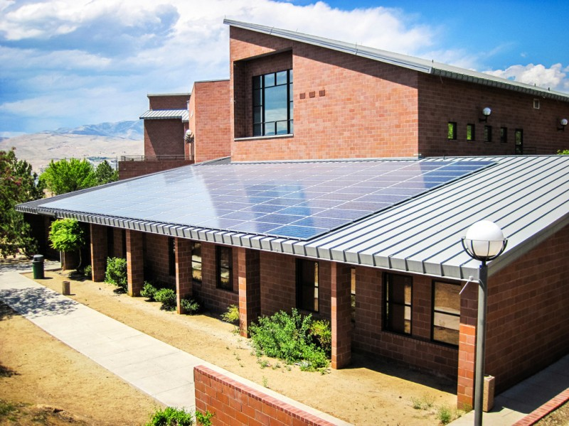 Solar panels at the Truckee Meadows Community College in Reno, Nevada.
