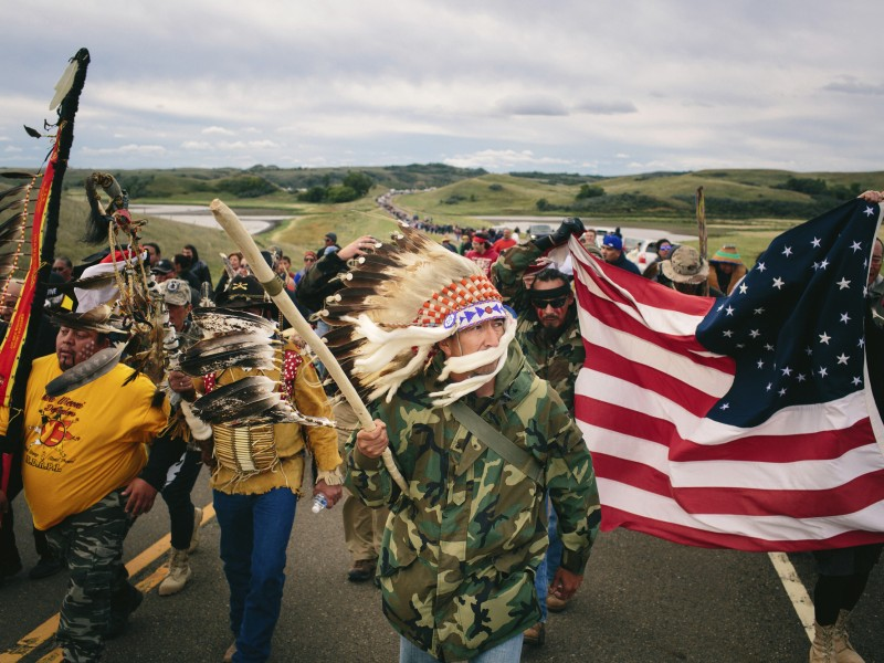 Gathering in opposition to Dakota Access Pipeline