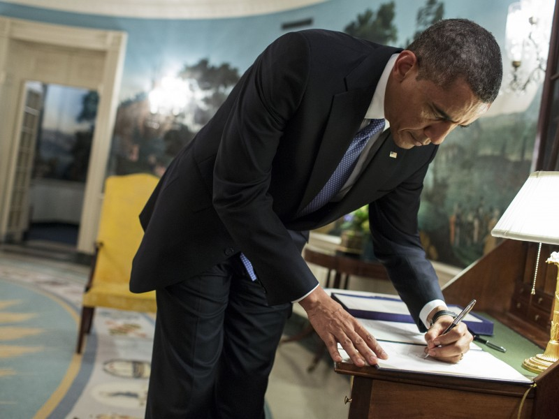 President Obama White House signing