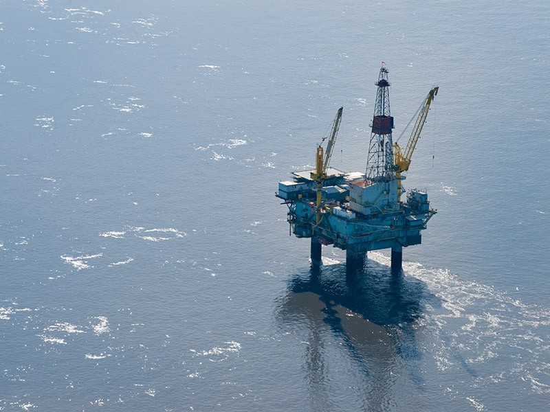 An oil drilling platform in Alaska's Cook Inlet. Opening up the fragile, irreplaceable Arctic Ocean to risky drilling for dirty oil will only exacerbate climate change already wreaking havoc on the Arctic and elsewhere.