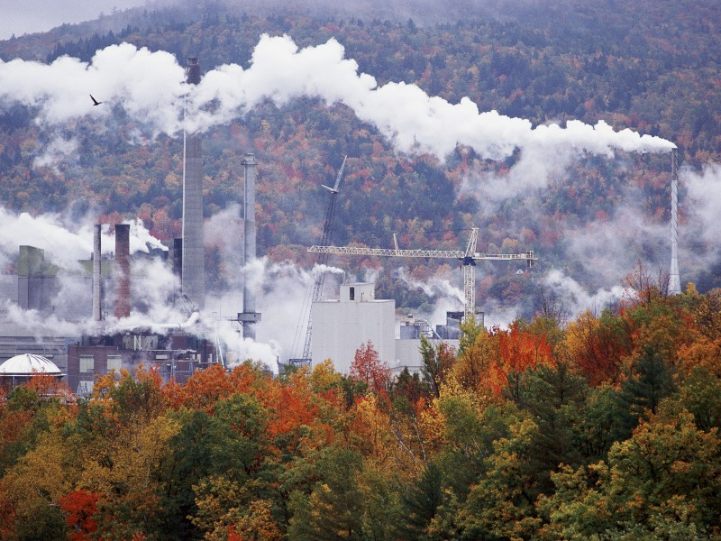 Paper mill in Massachusetts