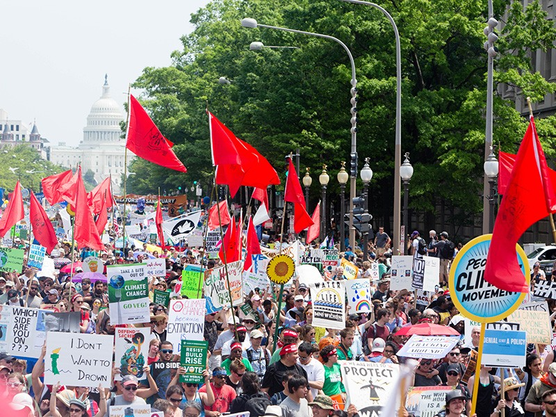The Peoples Climate Movement for the March for Jobs, Justice and the Climate in Washington, D.C., April 29, 2017.