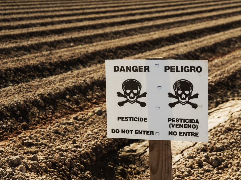 Danger Pesticides Sign
