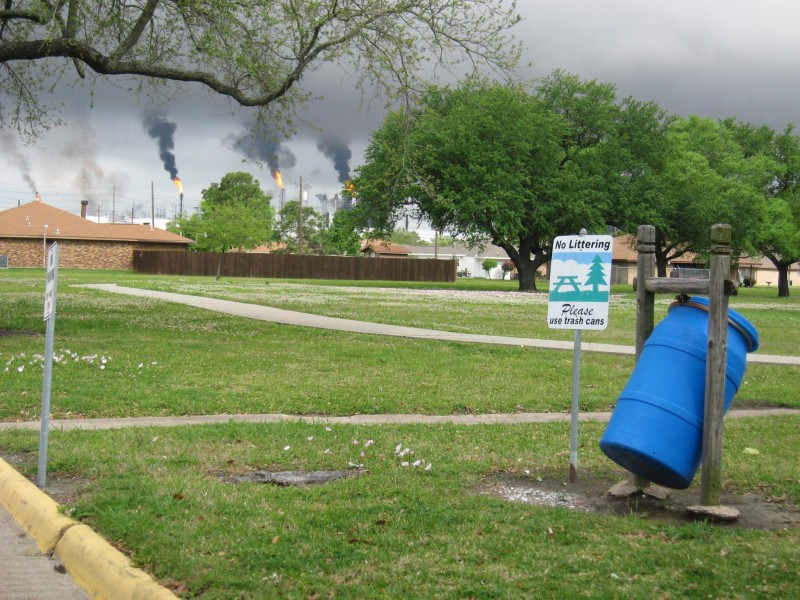 Malfunctions cause major pollution events like this one in the community of the west side of Port Arthur, Texas.