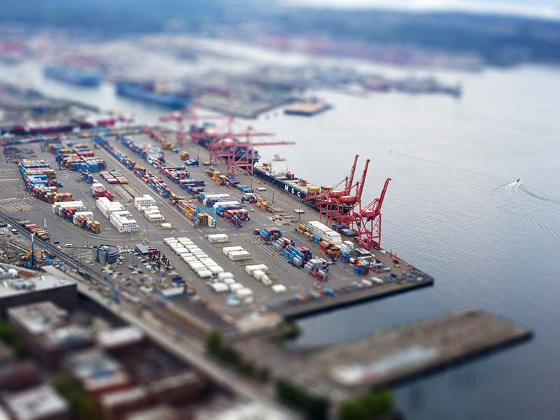 The Port of Seattle.