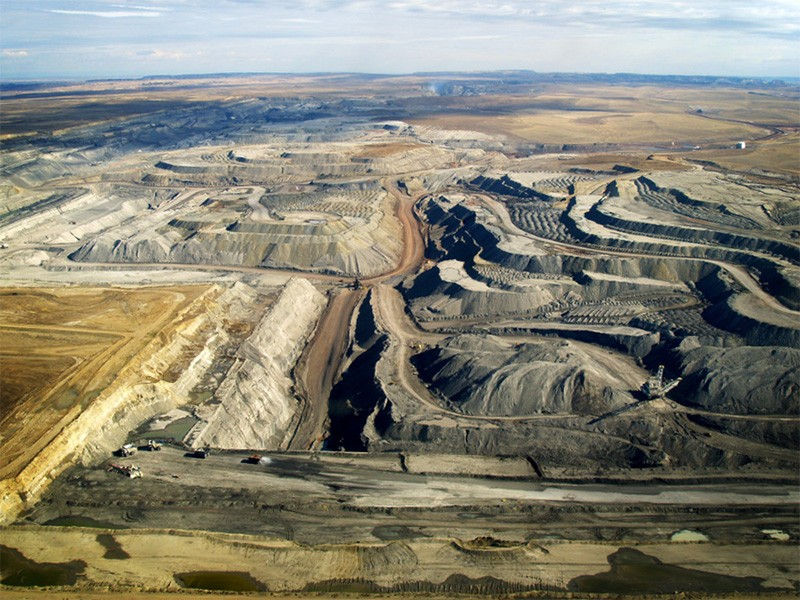 Coal mines in the Power River Basin.