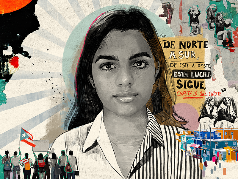 Illustration of Puerto Rican climate activist Isabel Valentin.