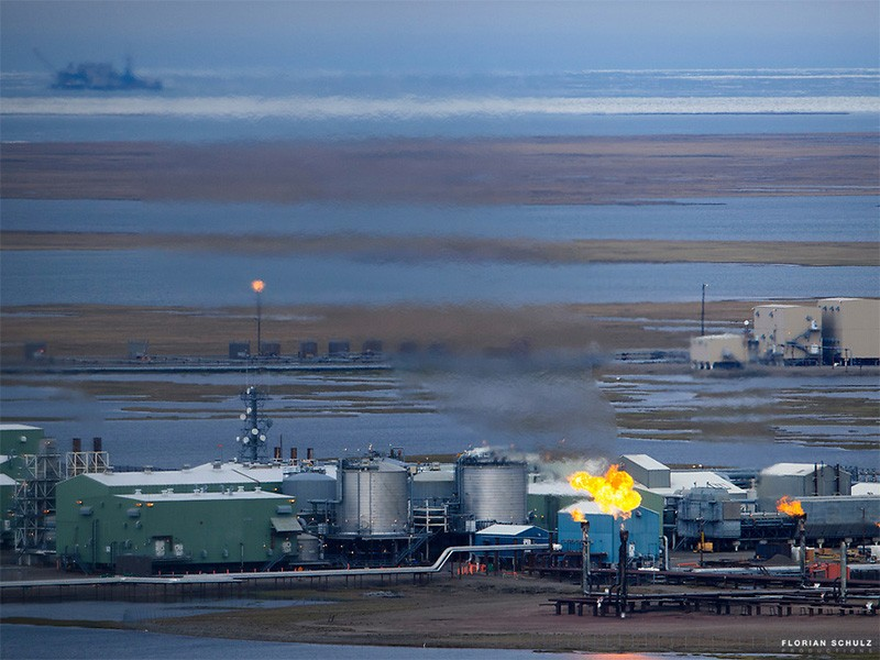 The Prudhoe Bay Oil Field in Alaska's North Slope.