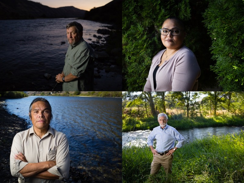 NEPA allowed these individuals to advocate for removing four dams on the lower Snake River to restore wild salmon runs. They are four of the more than 480,000 people who made their voices heard on this issue. Pictured, clockwise from the top left, are for