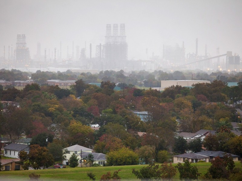 Port Arthur, Texas, lives in the shadow of oil refineries.