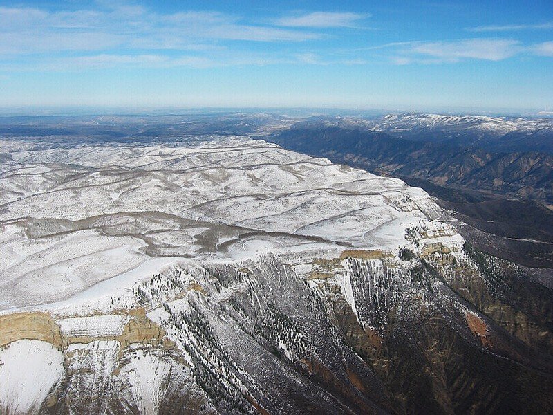 Winter at the Roan Plateau in Colorado.