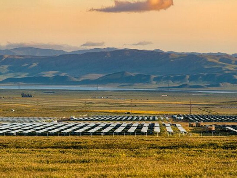 The California Valley Solar Ranch is 250-megawatt photovoltaic power plant in the Carrizo Plain, northeast of California Valley.