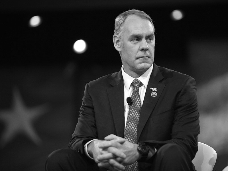 Interior Secretary Ryan Zinke's conduct is the subject of over a dozen federal investigations.