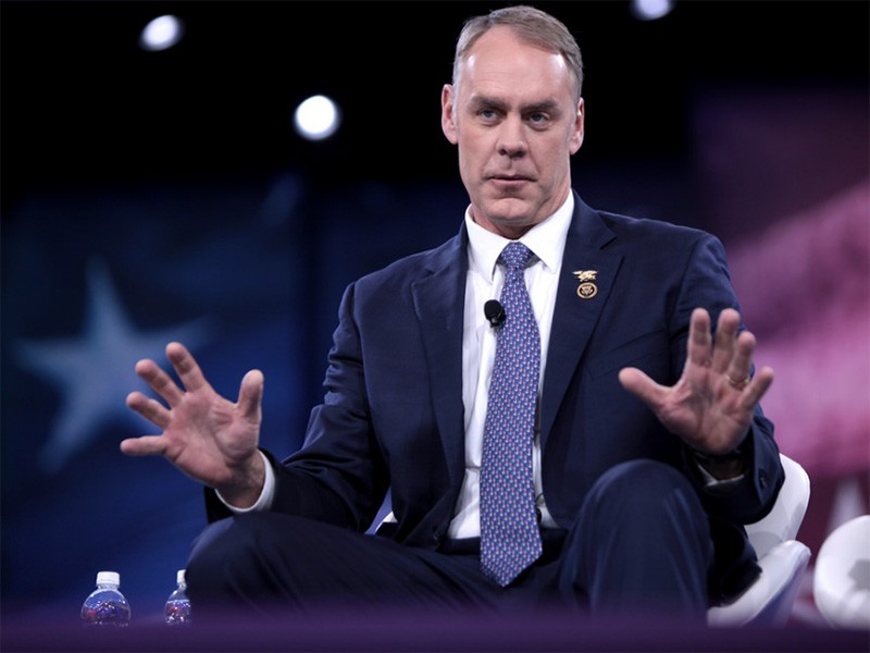 U.S. Congressman Ryan Zinke of Montana speaks at the 2016 Conservative Political Action Conference in National Harbor, Maryland.
