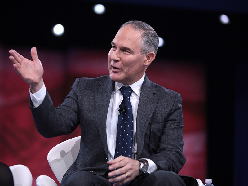 Attorney General Scott Pruitt of Oklahoma, speaking at the 2016 Conservative Political Action Conference in National Harbor, Maryland.