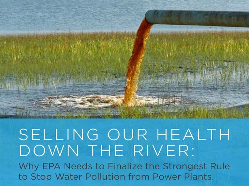 Cover of the report, 'Selling Our Health Down The River'.