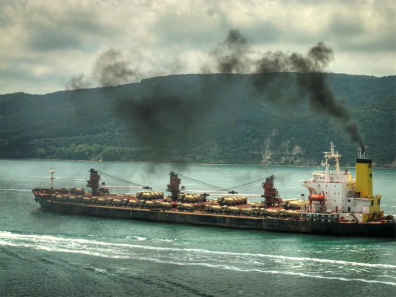 Ocean-going vessels with large marine diesel engines, such as container ships, tankers, freighters and cruise ships, are a significant source of air pollution in coastal states.