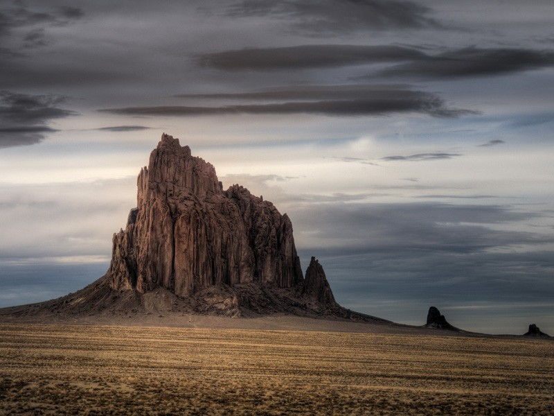 Shiprock is a sacred site in the Navajo Nation located near the Four Corners Power Plant