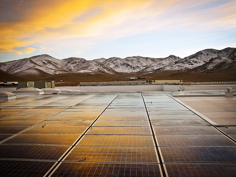 A 150 kilowatt photovoltaic array at the Food Bank of Northern Nevada, in Reno.