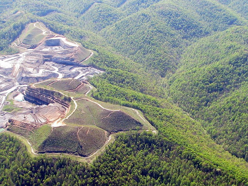 The site of the Spruce No. 1 mine, in West Virginia.