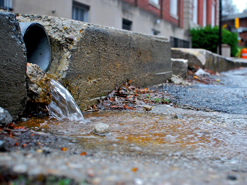 Stormwater runoff in Annapolis, MD.