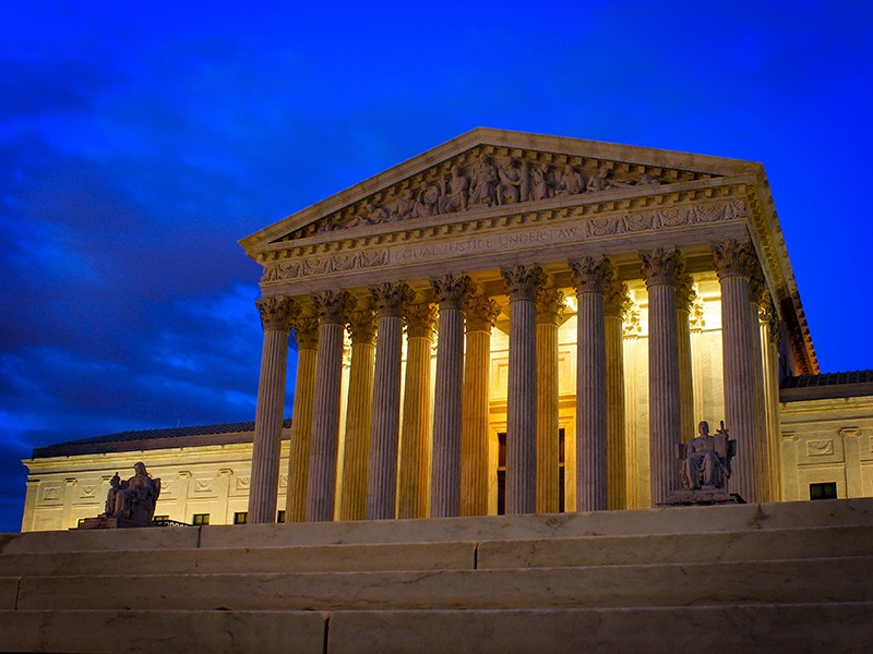 The U.S. Supreme Court building in Washington, D.C.