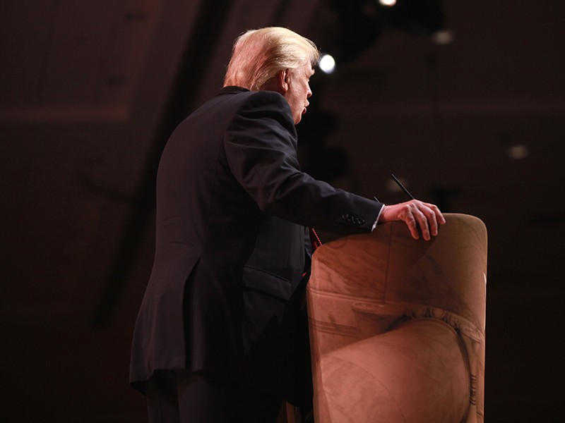 Trump, at the Conservative Political Action Conference in 2014 at National Harbor, Maryland.