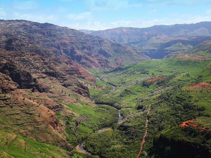 Waimea River and Canyon.