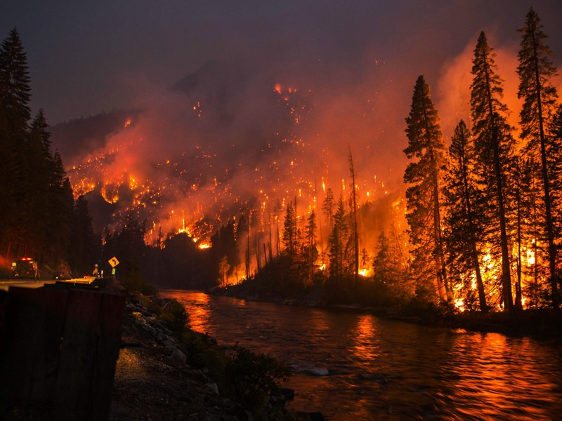 The Chiwaukum Fire in Washington, started by lightning, that burned more than 14,000 acres in July 2014.