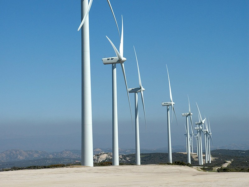 The Kumeyaay Wind Power Project at Campo Reservation, about 60 miles east of San Diego, California.