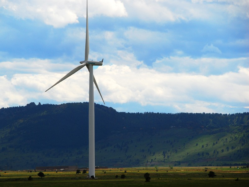 A wind turbine at the National Renewable Energy Laboratory (NREL) site in Colorado.