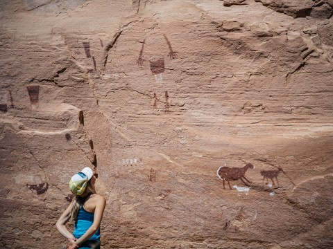 A visitor at Grand Gulch. The area is among the more than one million acres axed from Bears Ears National Monument.
