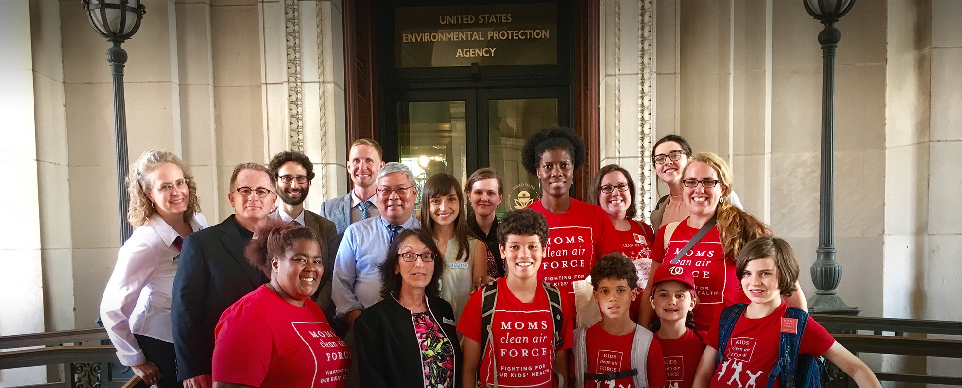 With moms, doctors and faith leaders who were on Capitol Hill to fight for clean air protections.