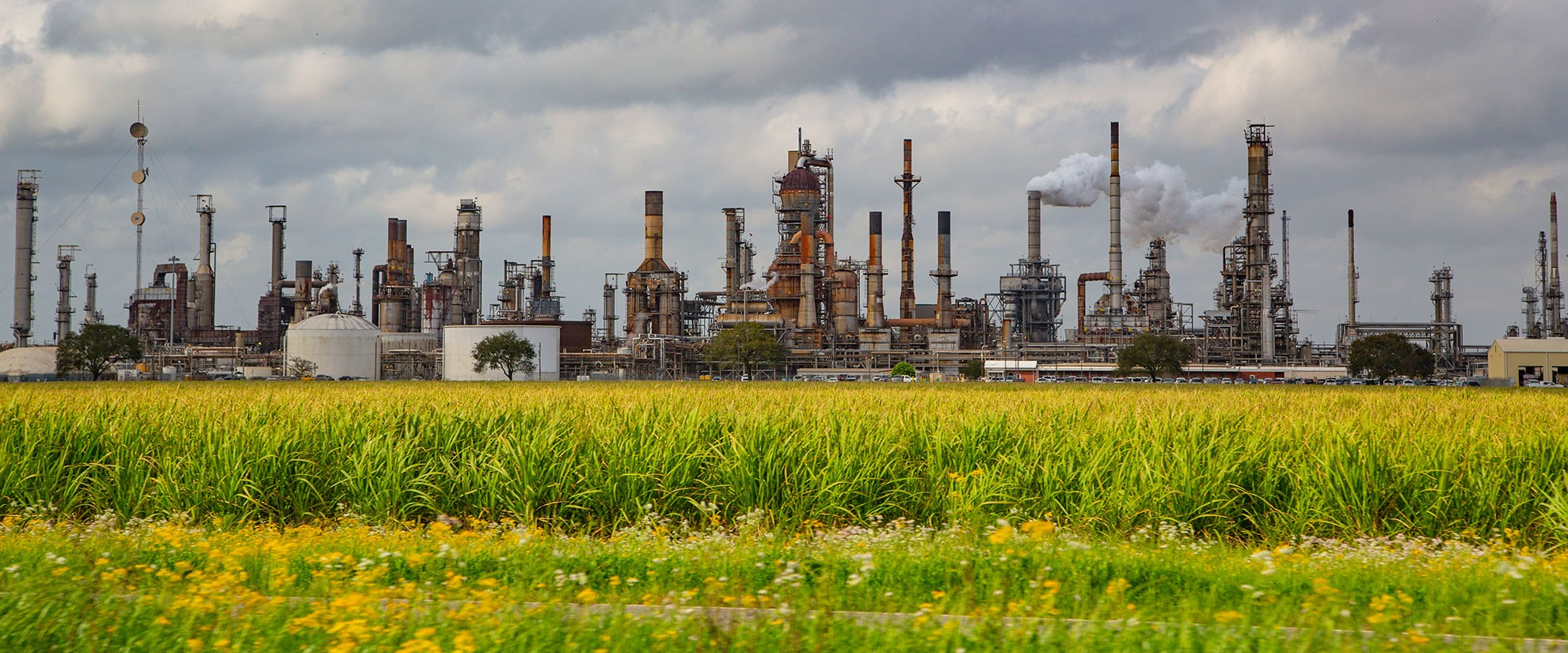 A petrochemicals plant in Louisiana.