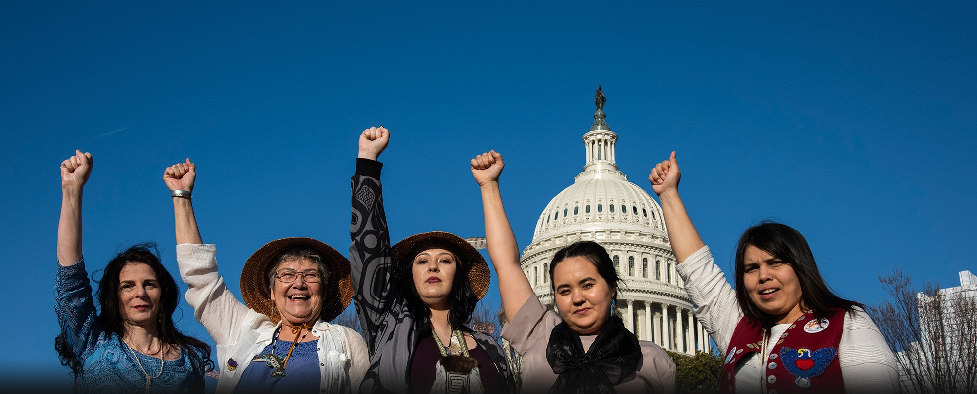 The WECAN Indigenous Women's Tongass Delegation in Washington, D.C.