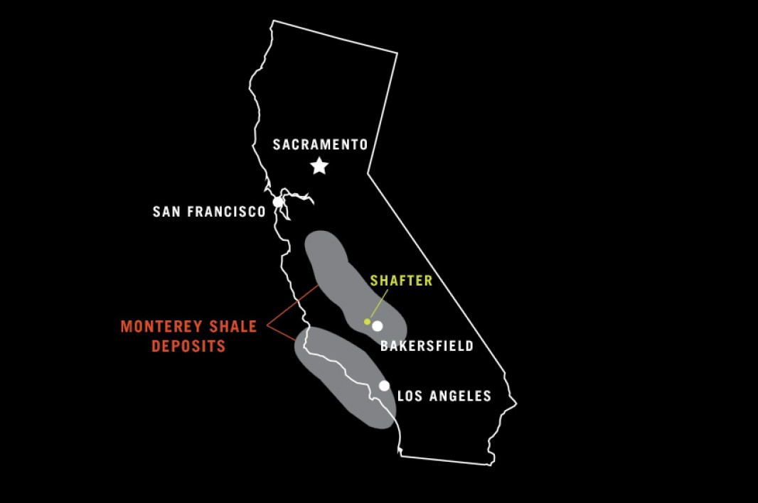Map of Monterey Shale.