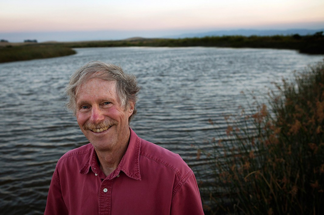 Earthjustice attorney Mike Sherwood stands in the San Francisco Bay Delta. Sherwood's ground-breaking litigation has been helping salmon in the Delta for more than ten years.