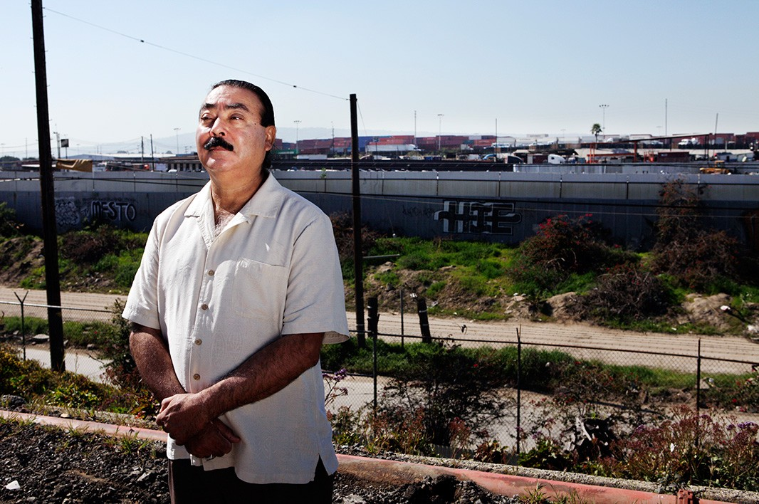 Jesse Marquez in the southern California city of Wilmington.