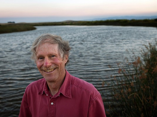 Earthjustice attorney Mike Sherwood stands in the San Francisco Bay Delta. Sherwood's ground-breaking litigation has been helping salmon in the Delta for more than ten years.Mike Sherwood, long-time Earthjustice attorney.
