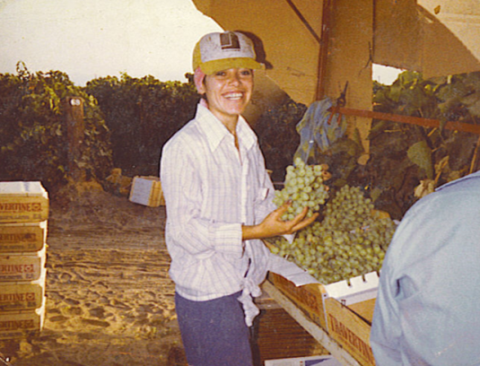 Mily Treviño-Sauceda, working on a California farm in a photo from the early 1980s