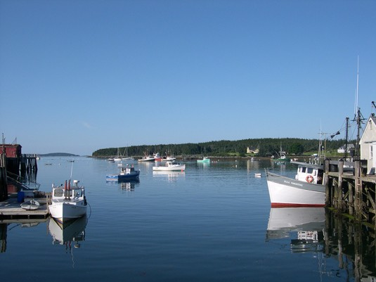 Fishing boats at Port Clyde.