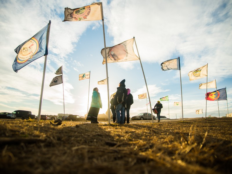Flags at Oceti Sakowin Camp