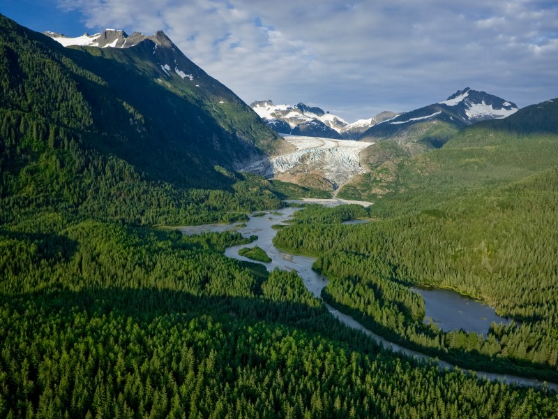 Herbert River and Herbert Glacier