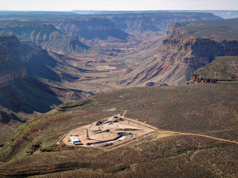 The Kanab North Uranium Mine on the North Rim of the Grand Canyon stopped operations in the 1990s.