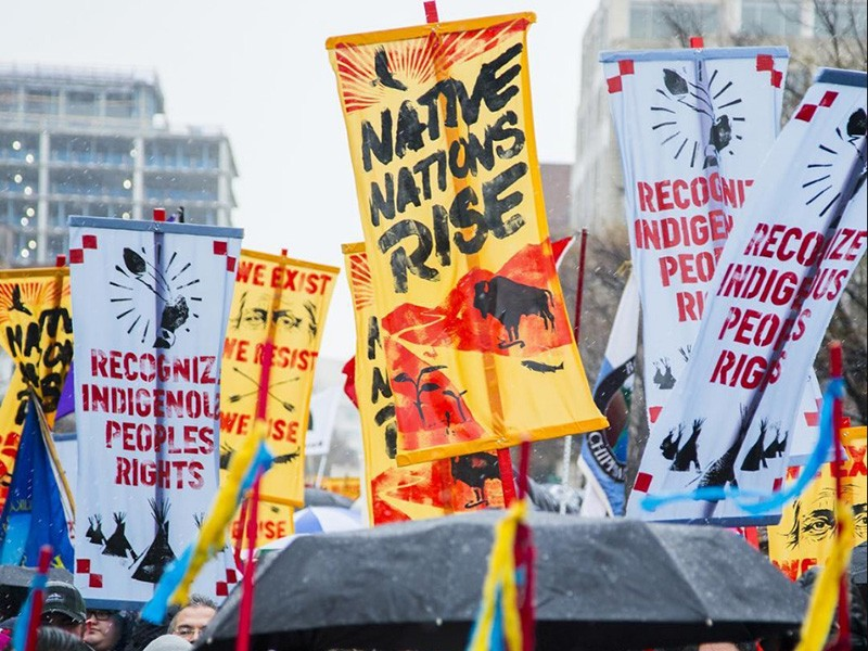 The Native Nations Rise march in Washington, D.C.