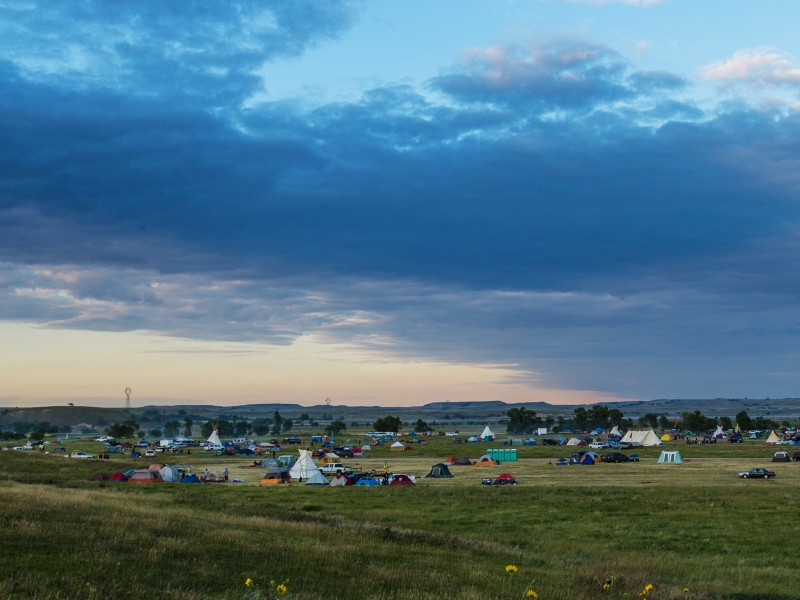 Dakota Access pipeline protest at the Sacred Stone Camp near Cannon Ball, North Dakota.