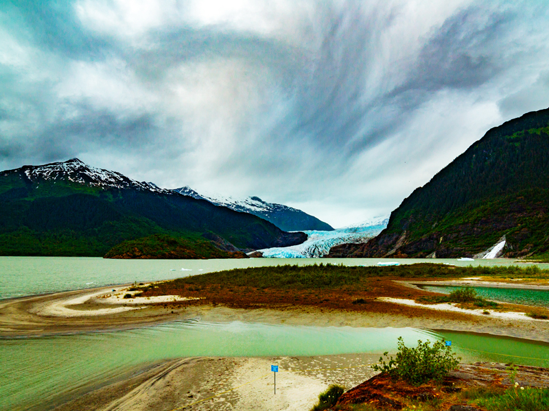 Mendenhall Glacier in Tongass National Forest